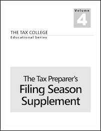 The Tax Preparer's Filing Season Supplement